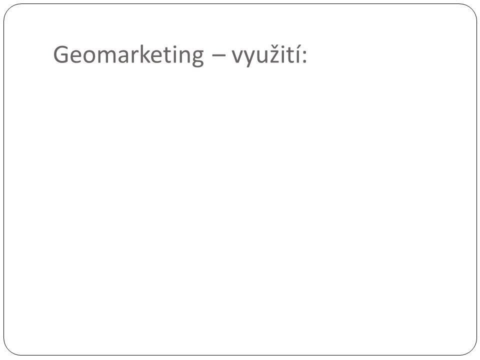 Geomarketing – využití: