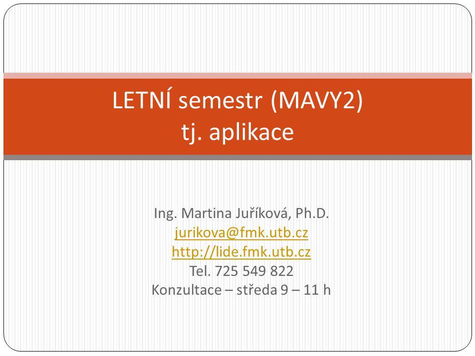 Obsah LS Zhodnocení Briefu/Debriefu/nástrojů ze SP Vyvození rad, zásad, doporučení pro realizaci Vyhodnocení kvantitativních šetření – deskriptivní analýza Využití metod výzkumu při vývoji i u zavedeného produktu, komunikace apod.