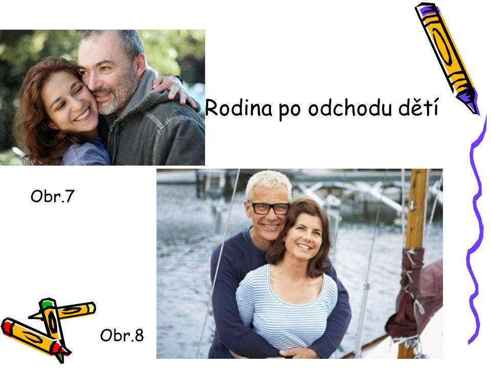 Rodina po odchodu dětí Obr.8 Obr.7