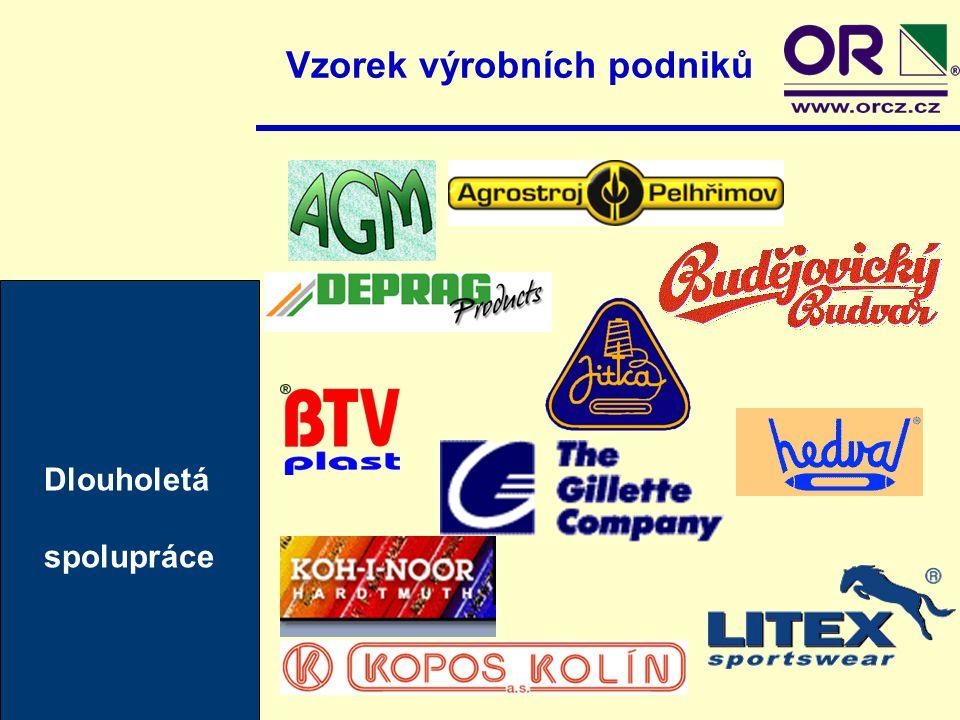 Dlouholetá spolupráce Vzorek výrobních podniků