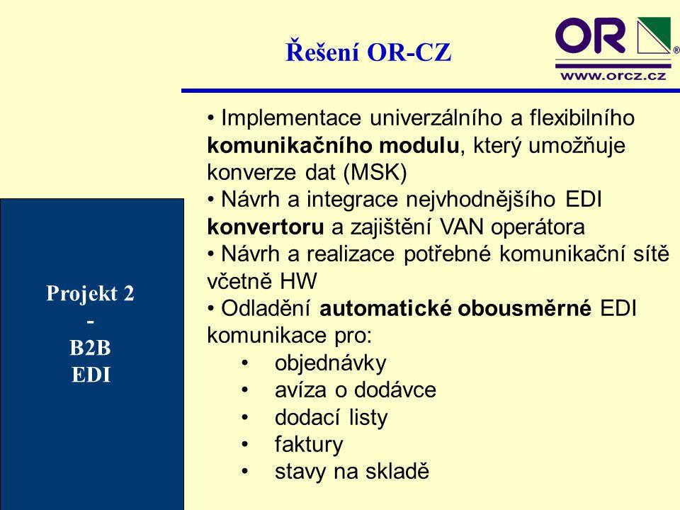 Řešení OR-CZ Implementace univerzálního a flexibilního komunikačního modulu, který umožňuje konverze dat (MSK) Návrh a integrace nejvhodnějšího EDI ko