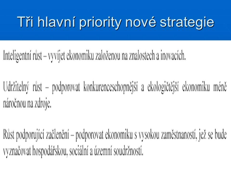 Tři hlavní priority nové strategie