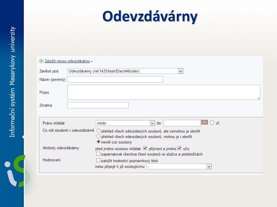 Informační systém Masarykovy univerzity Odevzdávárny