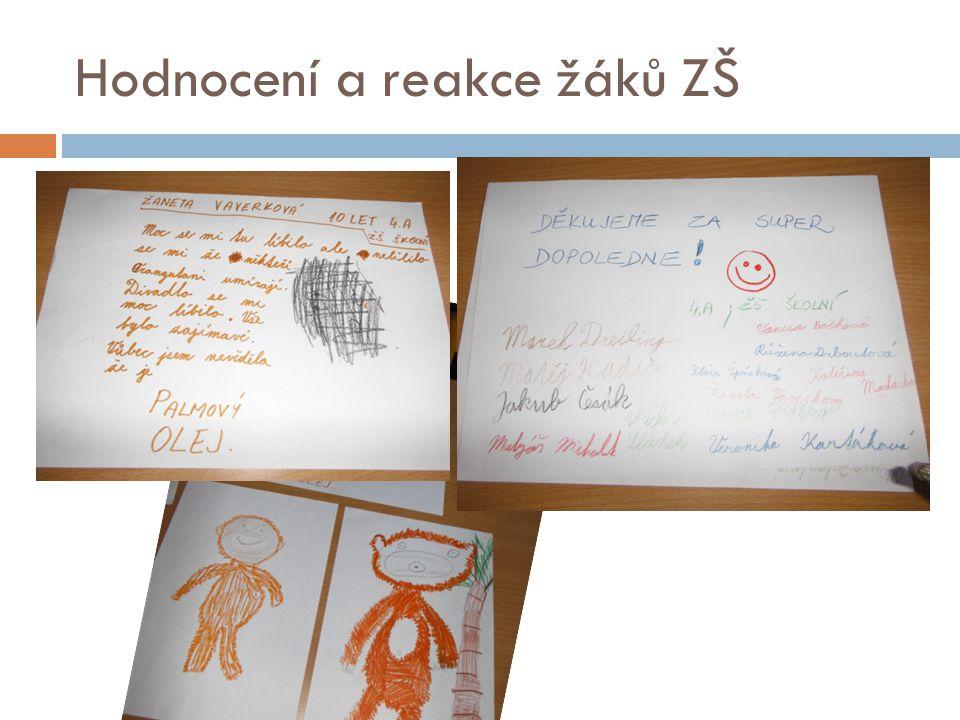 Hodnocení a reakce žáků ZŠ