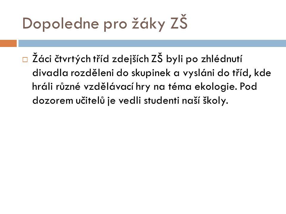 Fotky z dopoledne pro žáky ZŠ