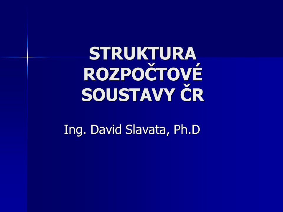 STRUKTURA ROZPOČTOVÉ SOUSTAVY ČR Ing. David Slavata, Ph.D