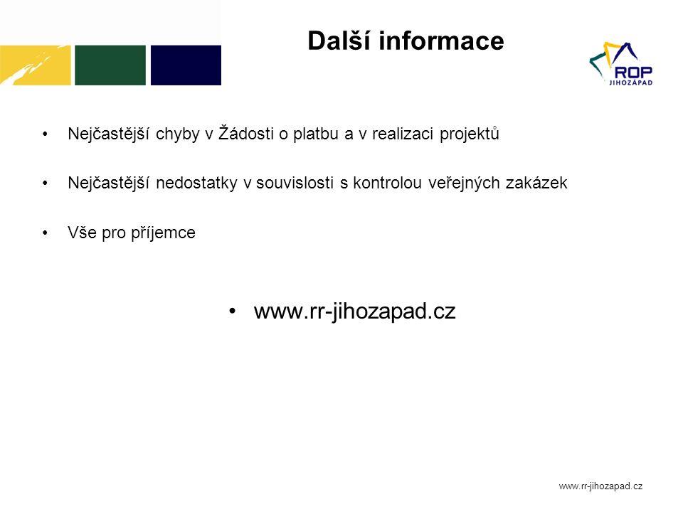 Další informace Nejčastější chyby v Žádosti o platbu a v realizaci projektů Nejčastější nedostatky v souvislosti s kontrolou veřejných zakázek Vše pro