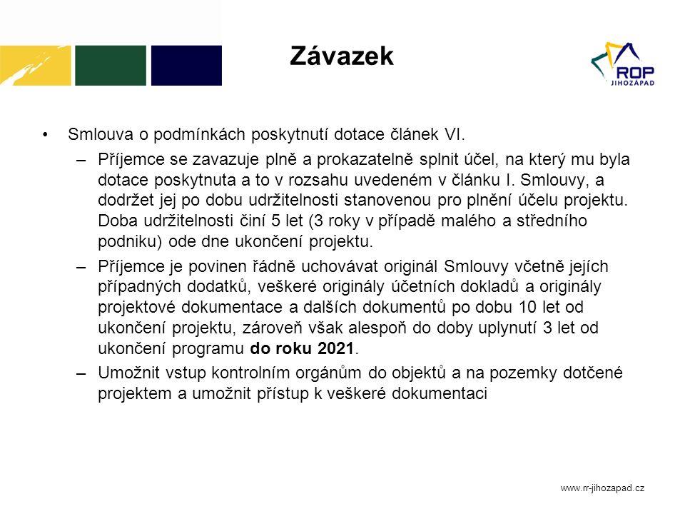 Další informace Nejčastější chyby v Žádosti o platbu a v realizaci projektů Nejčastější nedostatky v souvislosti s kontrolou veřejných zakázek Vše pro příjemce www.rr-jihozapad.cz