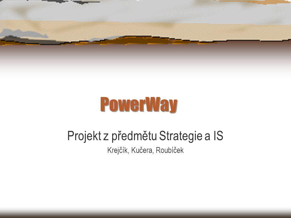 PowerWay Projekt z předmětu Strategie a IS Krejčík, Kučera, Roubíček