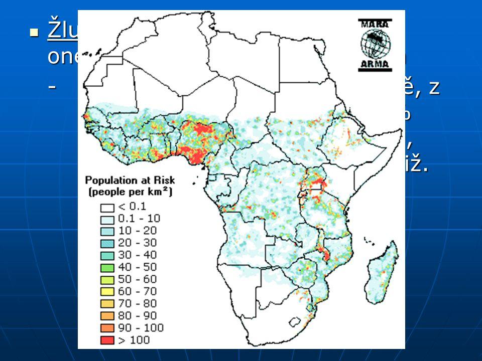 Žlutá zimnice – virové horečnaté onemocnění přenášené komárem Žlutá zimnice – virové horečnaté onemocnění přenášené komárem -ročně 200 tis. případů ve