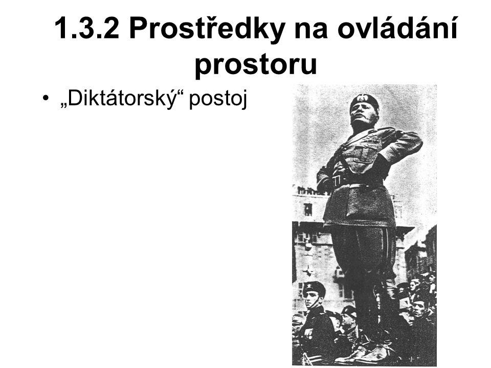 """1.3.2 Prostředky na ovládání prostoru """"Diktátorský"""" postoj"""