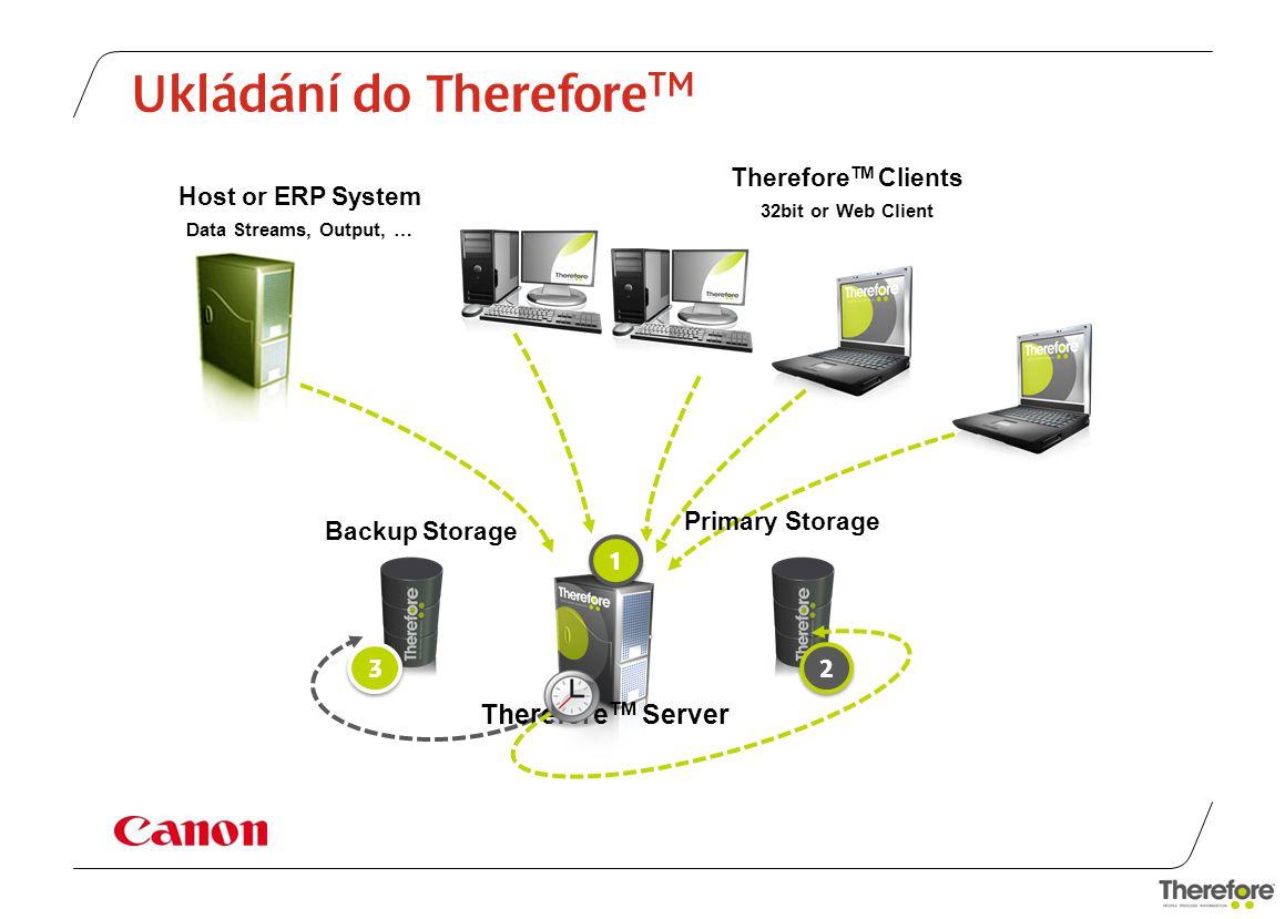 Možnosti vstupu -Jakýkoli informační systém ( ERP, Sharepoint, SAP, Navision) Scanner -Therefore TM Capture Client -Digitální data -Digitální výstupy z přístrojů a zařízení -Microsoft Office -správce souborů -PDF Cold -Multifunkční zařízení