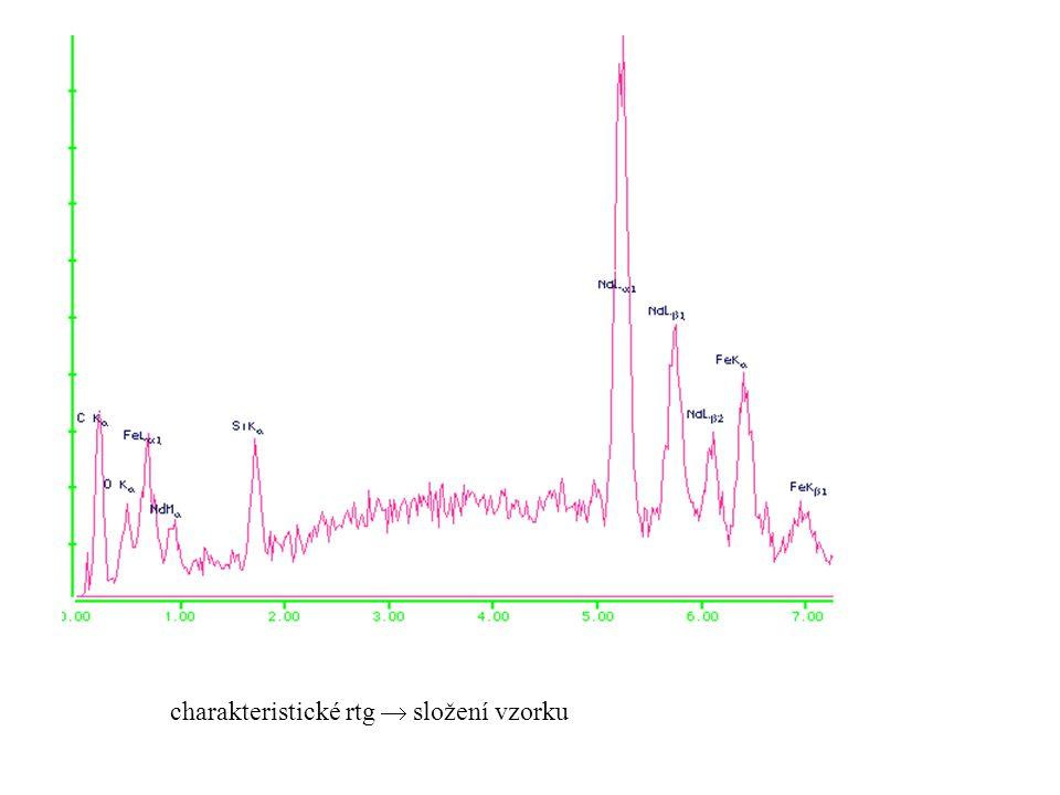 obrázky ze SEM (neomezená hloubka ostrosti x optika) kapičky Sn na povrchu GaAs toaletní papír ( x 500) radiolara ( x 750) inj.