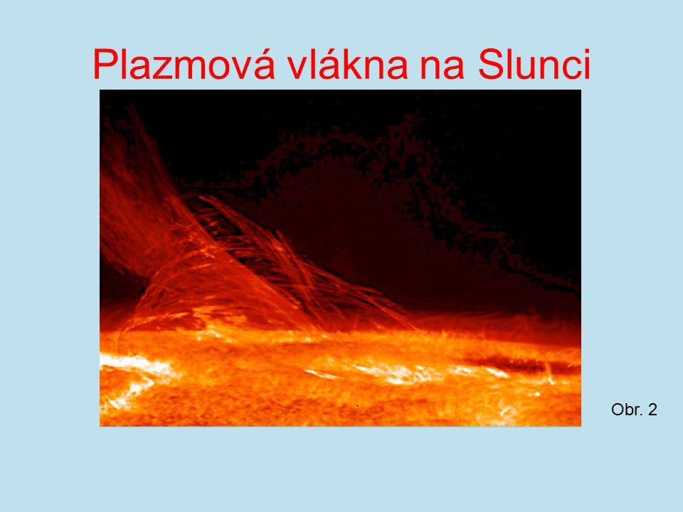 Plazmová vlákna na Slunci Obr. 2