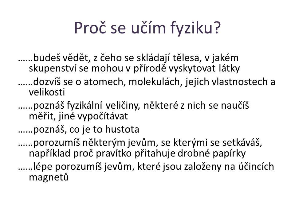 Proč se učím fyziku.