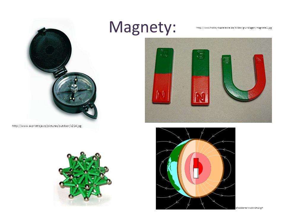 Magnety: http://www.e-pristroje.cz/pictures/outdoor/x214.jpg http://www.hobby-bastelecke.de/bilder/grundlagen/magnete1.jpg http://www.bofi.cz/Maticka%20Zeme/MAGWORLD.gif
