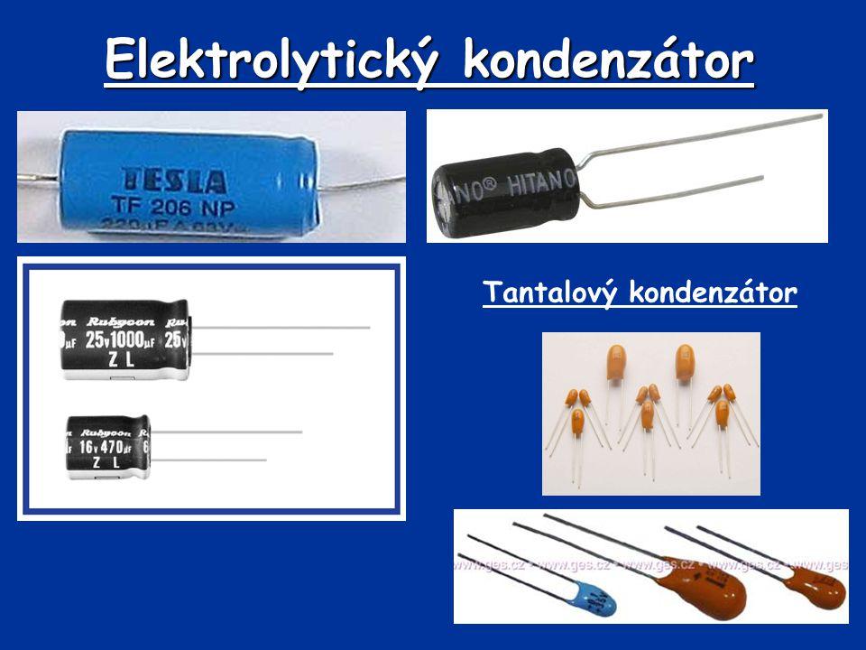 Elektrolytický kondenzátor Tantalový kondenzátor