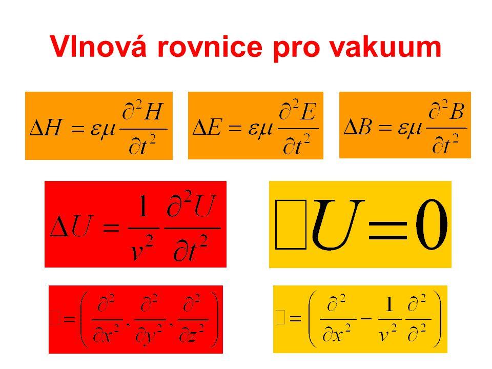 Vlnová rovnice pro vakuum