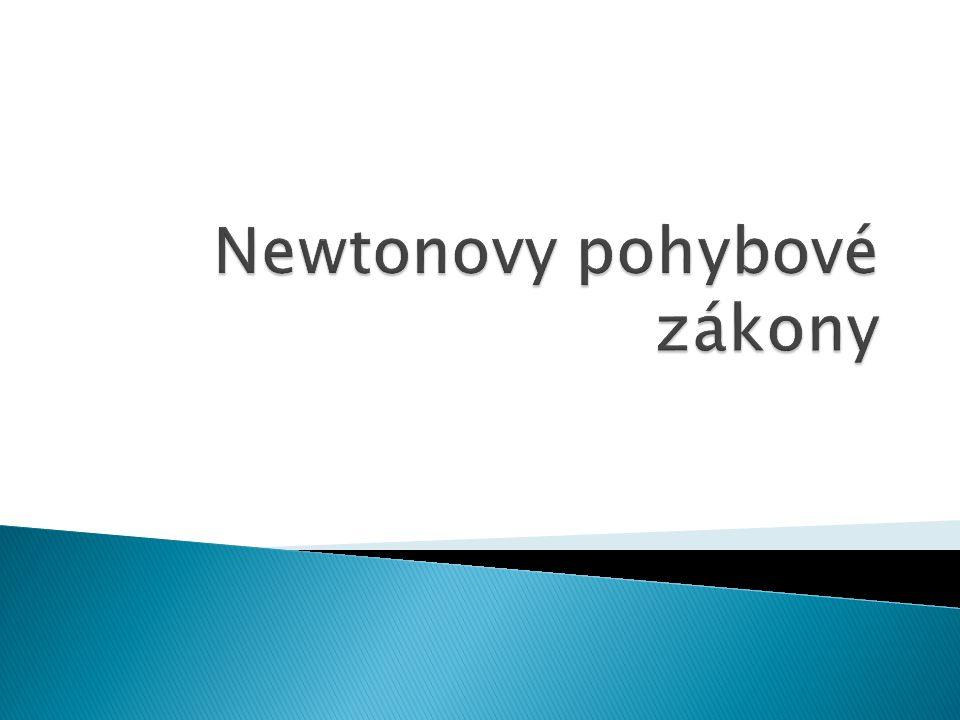 1.Jak zní 1.Newtonový pohybový zákon – zákon setrvačnosti.
