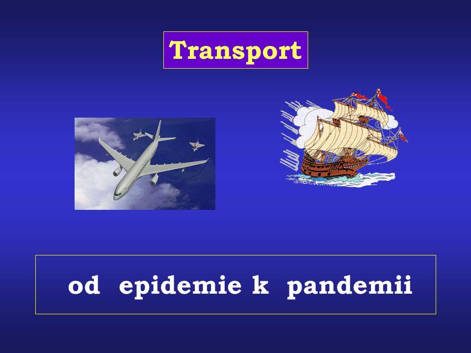 od epidemie k pandemii Transport