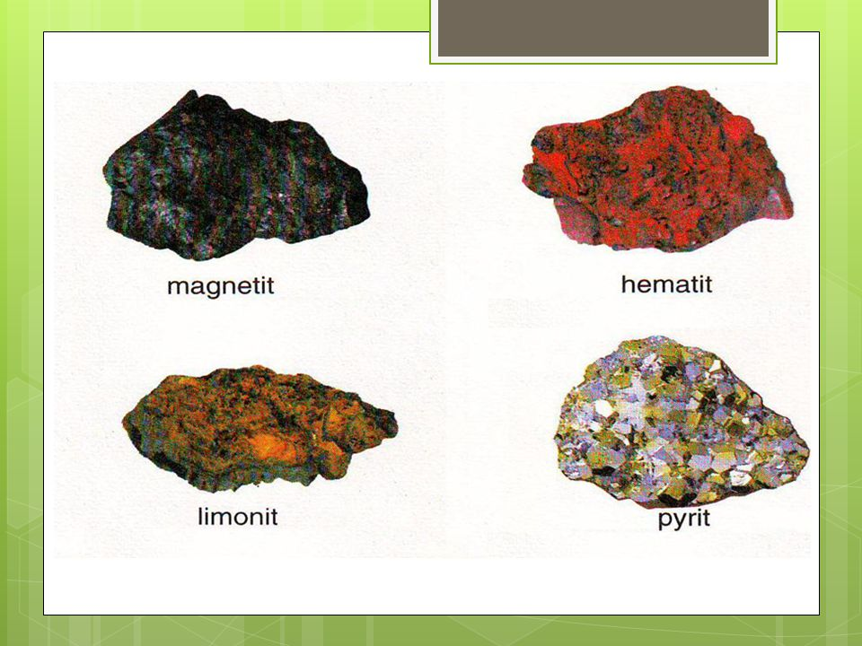  Fe 3 O 4 (magnetit) - vzniká působením vodní páry na rozžhavené železo