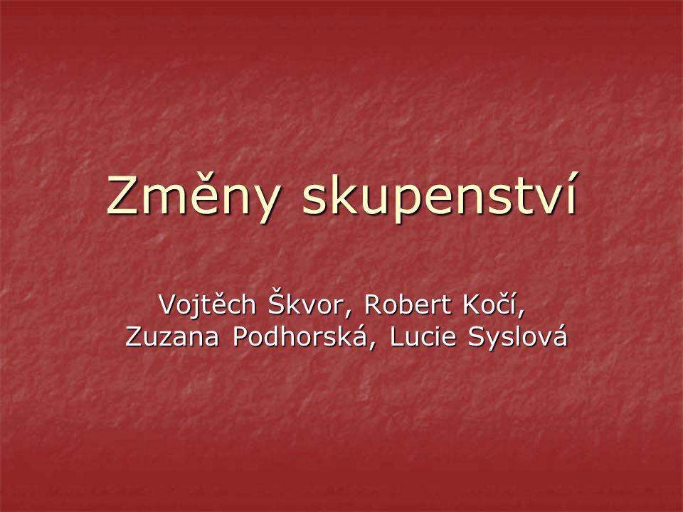 Změny skupenství Vojtěch Škvor, Robert Kočí, Zuzana Podhorská, Lucie Syslová
