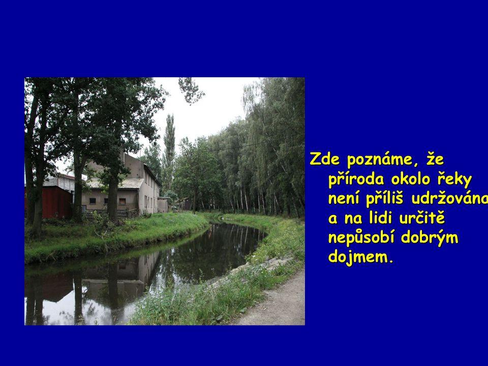 Zde poznáme, že příroda okolo řeky není příliš udržována a na lidi určitě nepůsobí dobrým dojmem.