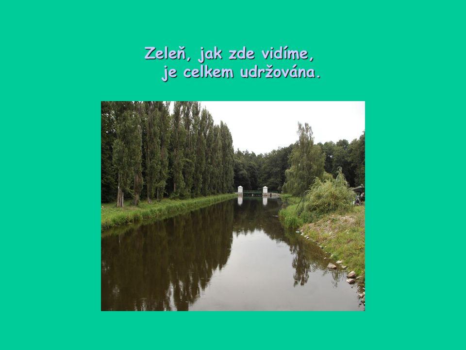 Zde, kde denně projde mnoho lidí a také bydlí, je zeleň velice příjemná a uklidňující.