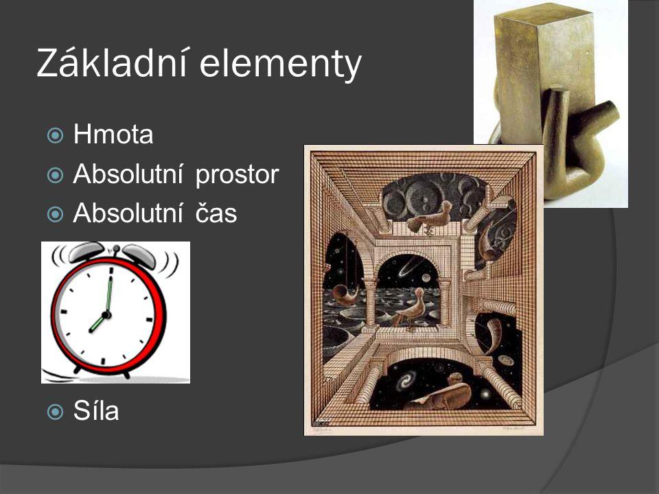 Základní elementy HHmota AAbsolutní prostor AAbsolutní čas SSíla