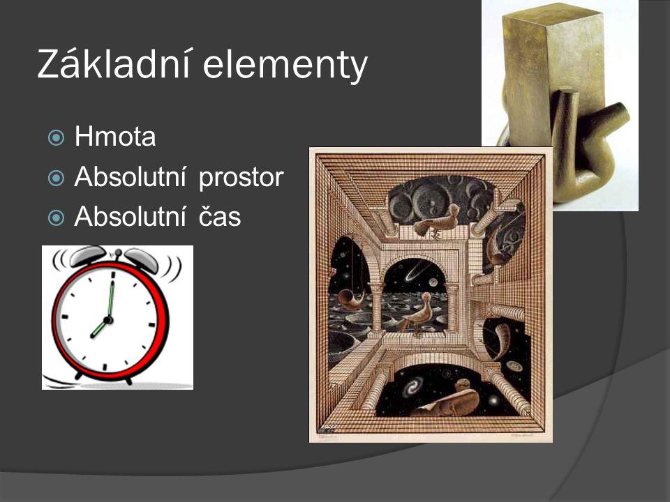 Základní elementy HHmota AAbsolutní prostor AAbsolutní čas
