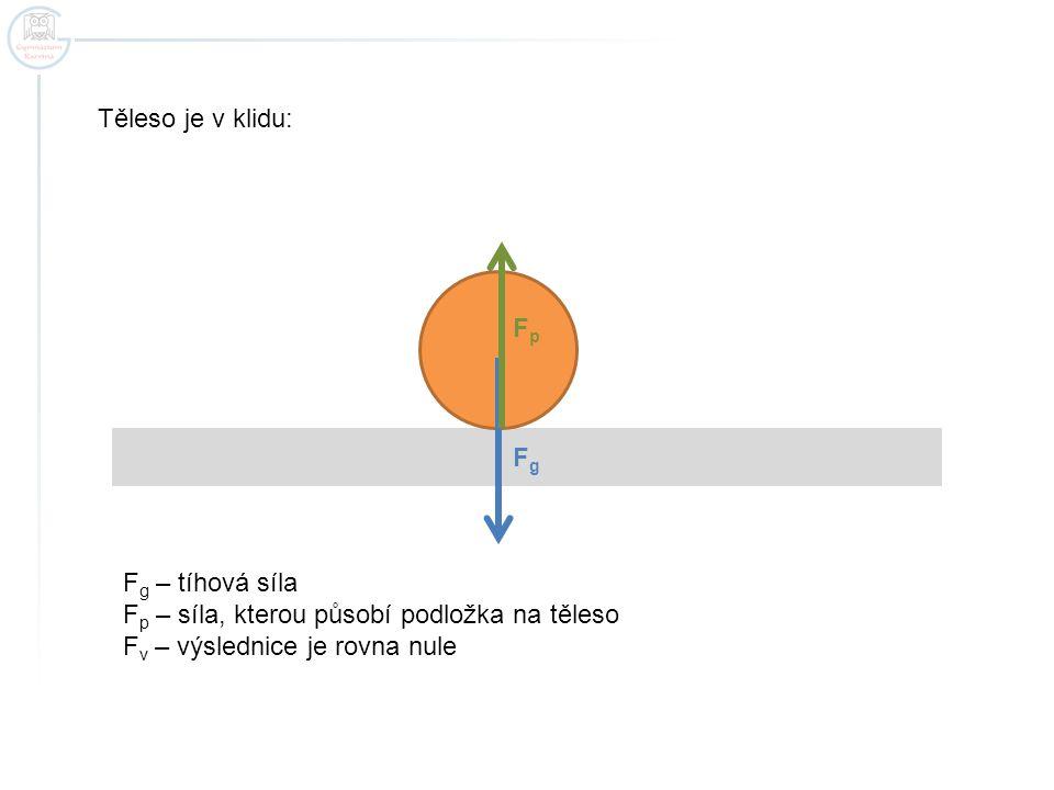 Těleso je v rovnoměrném přímočarém pohybu: - výsledná síla zrychlený pohyb rovnoměrný pohyb