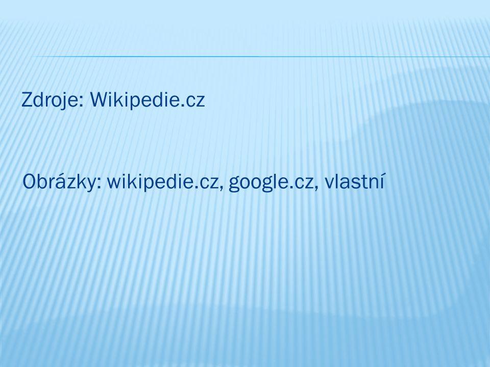 Zdroje: Wikipedie.cz Obrázky: wikipedie.cz, google.cz, vlastní