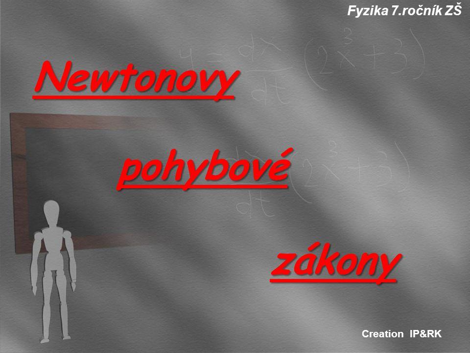 Fyzika 7.ročník ZŠ Creation IP&RK Newtonovy pohybové pohybové zákony zákony