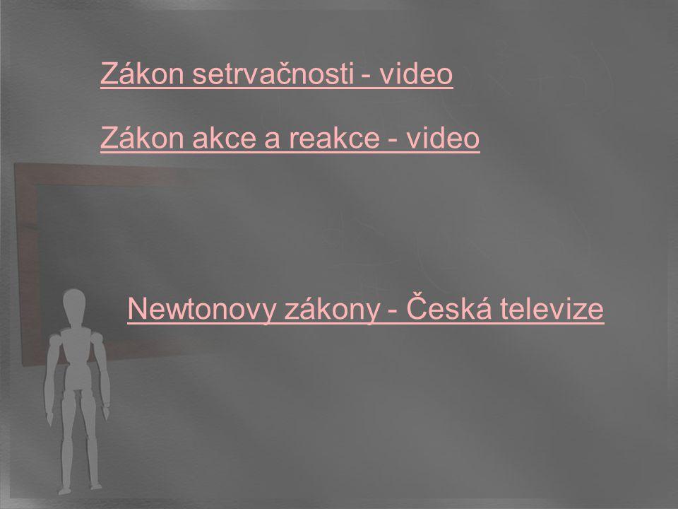Zákon akce a reakce - video Zákon setrvačnosti - video Newtonovy zákony - Česká televize