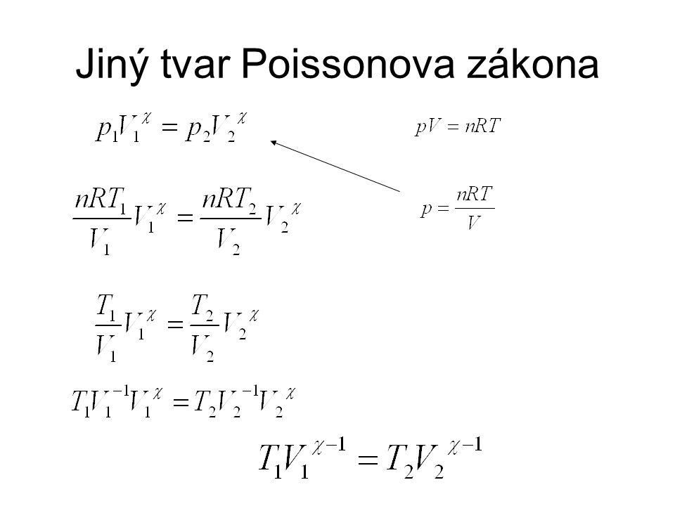 Jiný tvar Poissonova zákona