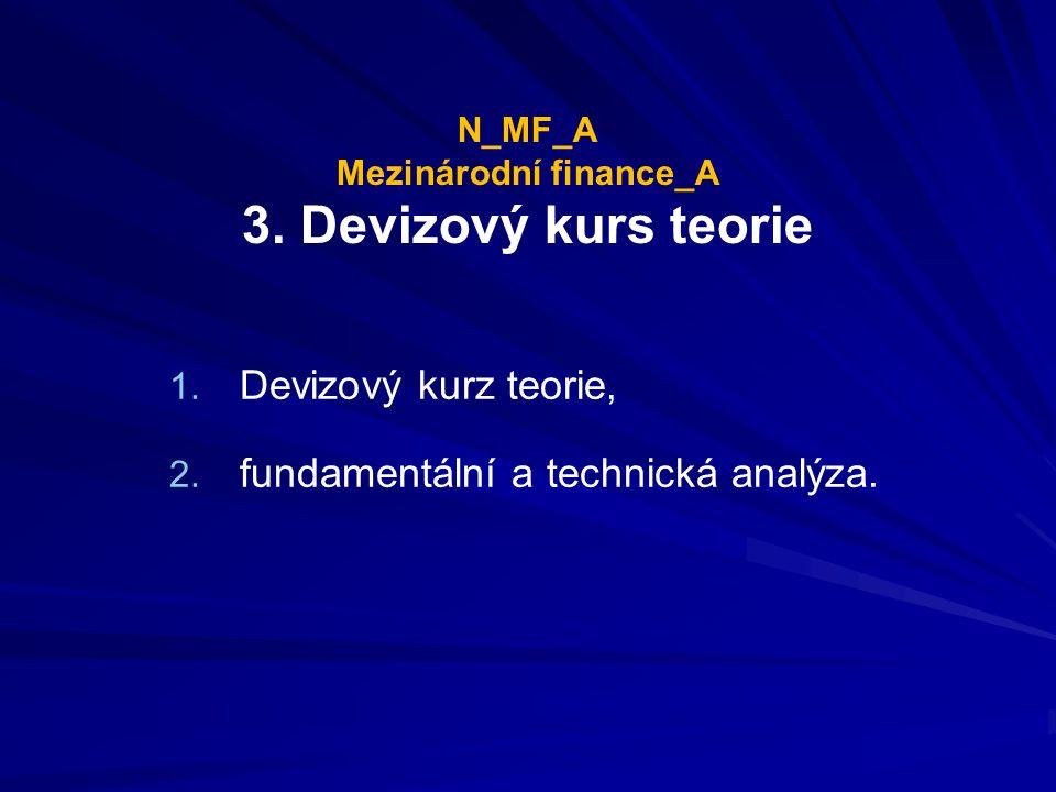 N_MF_A Mezinárodní finance_A 3.Devizový kurs teorie 1.