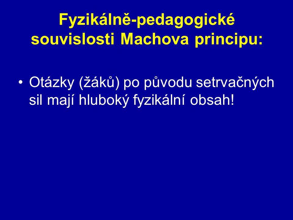 Fyzikálně-pedagogické souvislosti Machova principu: Otázky (žáků) po původu setrvačných sil mají hluboký fyzikální obsah!