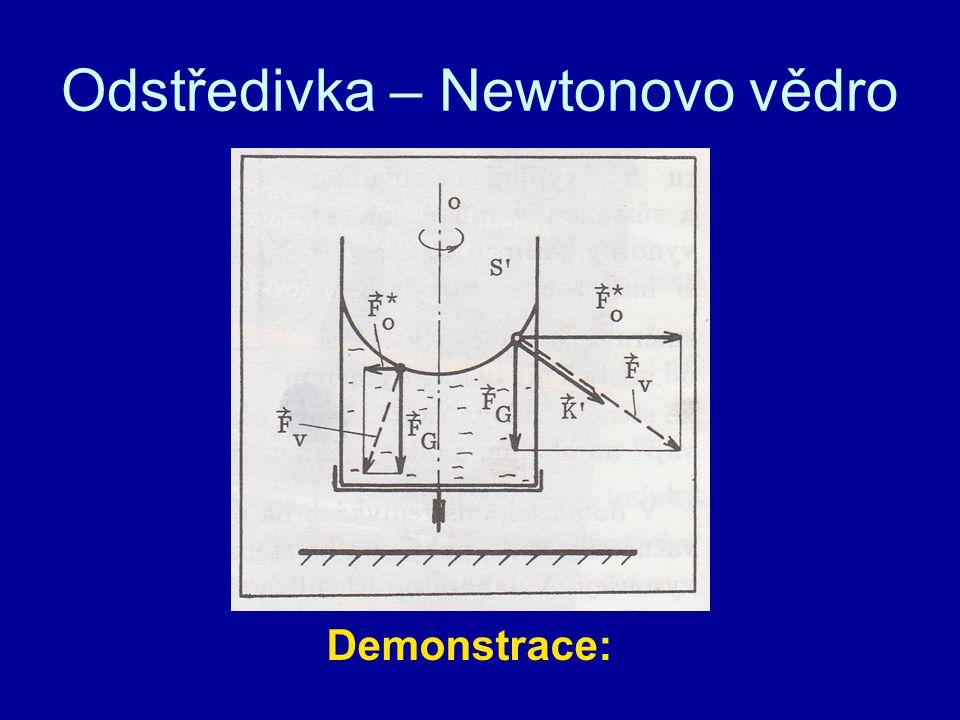 Odstředivka – Newtonovo vědro Demonstrace: