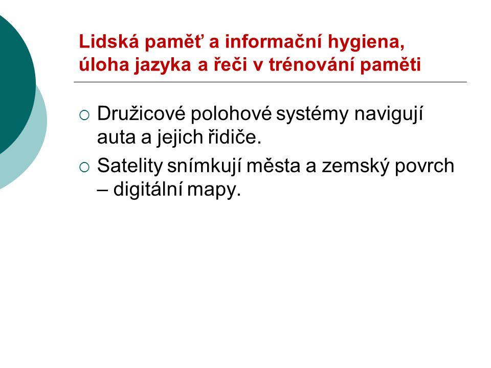 Lidská paměť a úloha jazyka a řeči  Synonyma  http://www.synonyma- online.cz/tezaurus.php