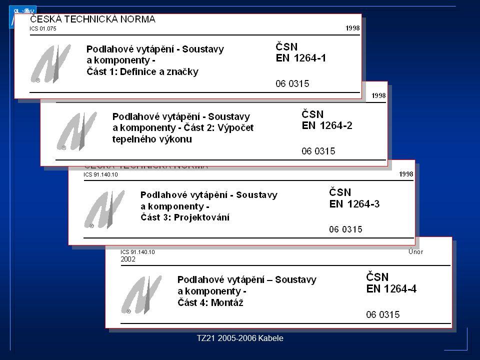 TZ21 2005-2006 Kabele ČESKÁ TECHNICKÁ NORMA ICS 01.075 1998 ČESKÁ TECHNICKÁ NORMA ICS 01.075 1998