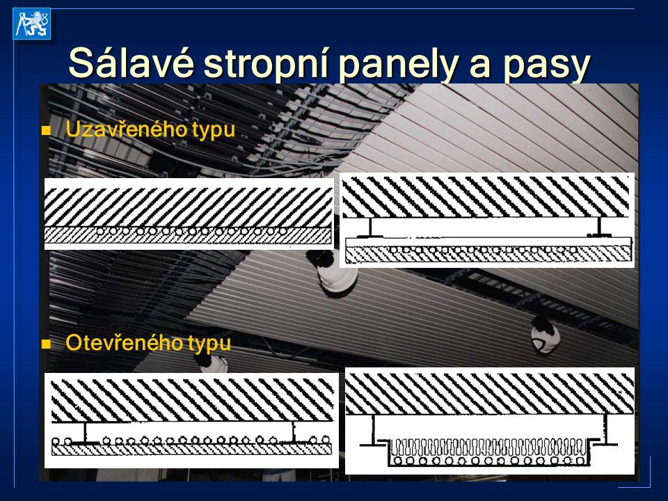TZ21 2005-2006 Kabele Sálavé stropní panely a pasy Uzavřeného typu Otevřeného typu