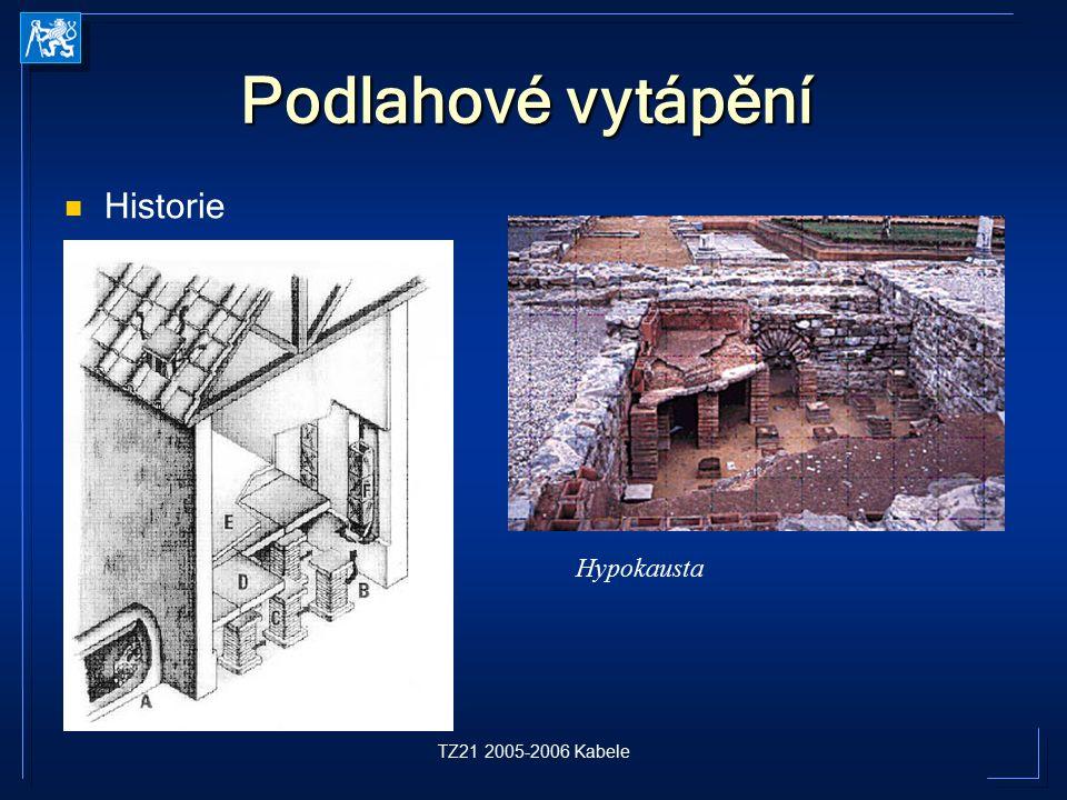 TZ21 2005-2006 Kabele Historie Podlahové vytápění Hypokausta