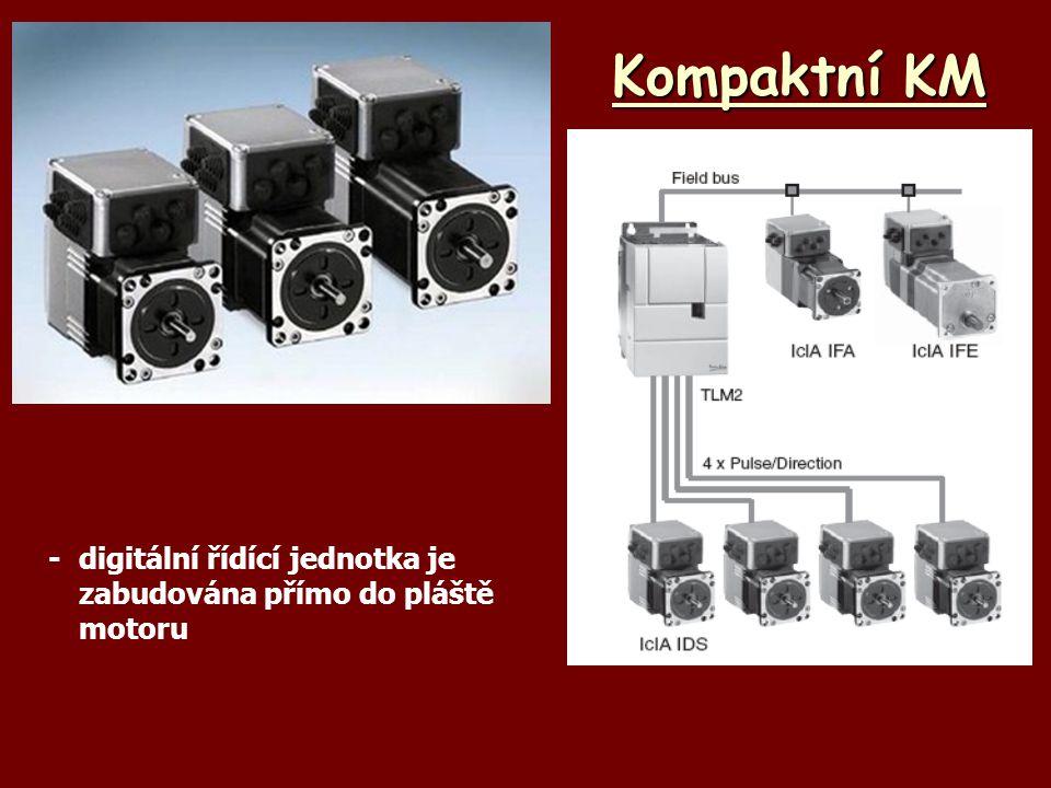 Kompaktní KM - digitální řídící jednotka je zabudována přímo do pláště motoru