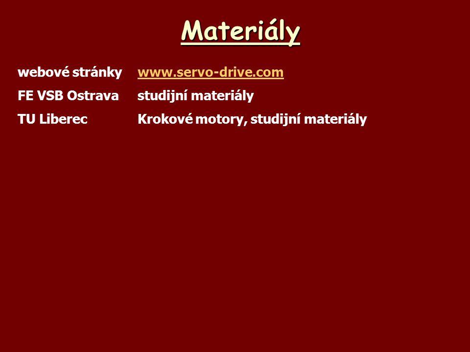 Materiály webové stránkywww.servo-drive.comwww.servo-drive.com FE VSB Ostravastudijní materiály TU LiberecKrokové motory, studijní materiály
