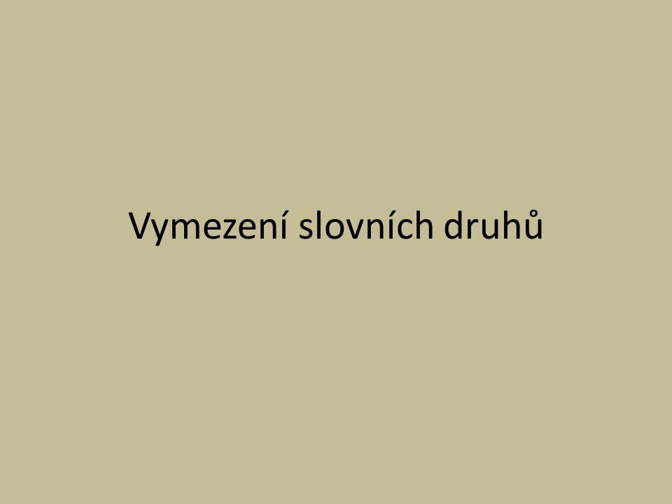 Vymezení slovních druhů