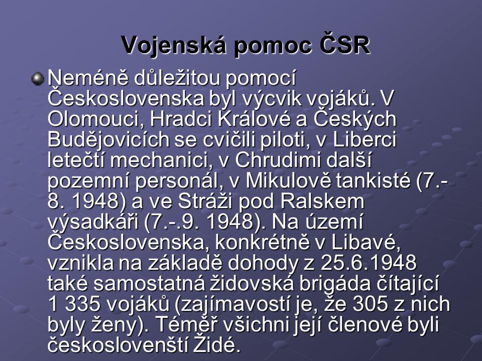 Vojenská pomoc ČSR Neméně důležitou pomocí Československa byl výcvik vojáků.