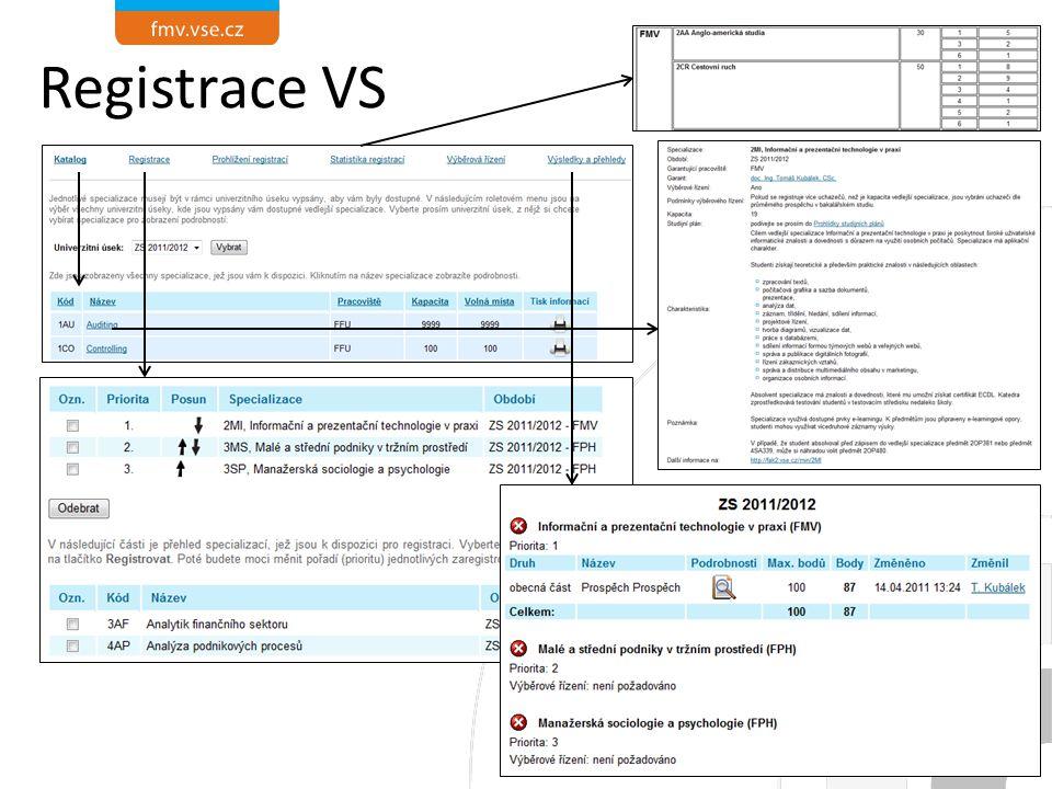 Registrace VS 5