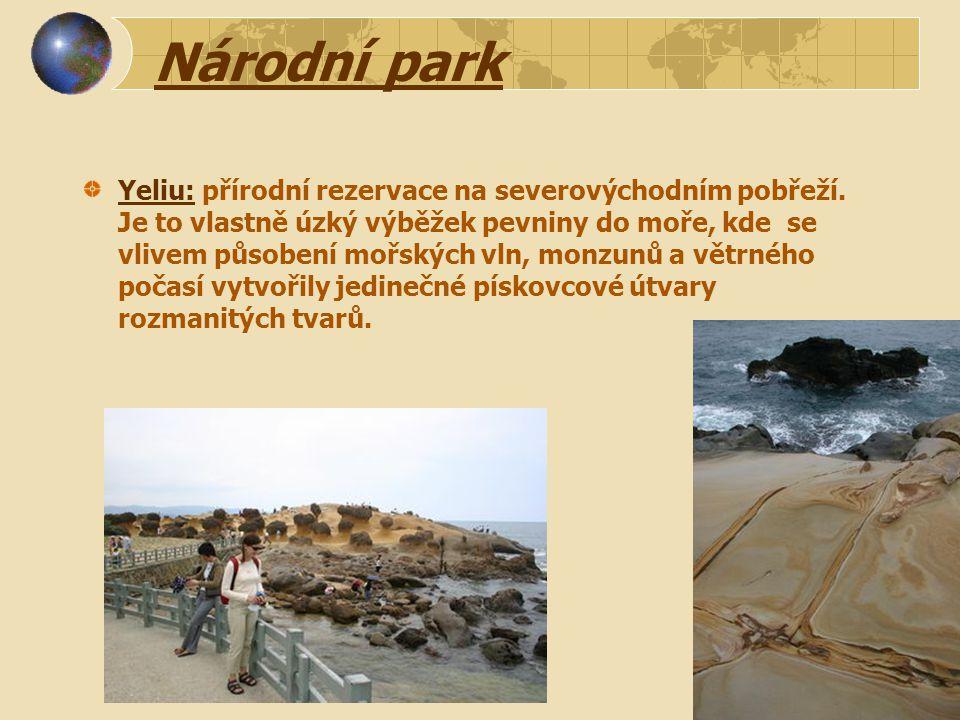 Národní park Yeliu: přírodní rezervace na severovýchodním pobřeží.