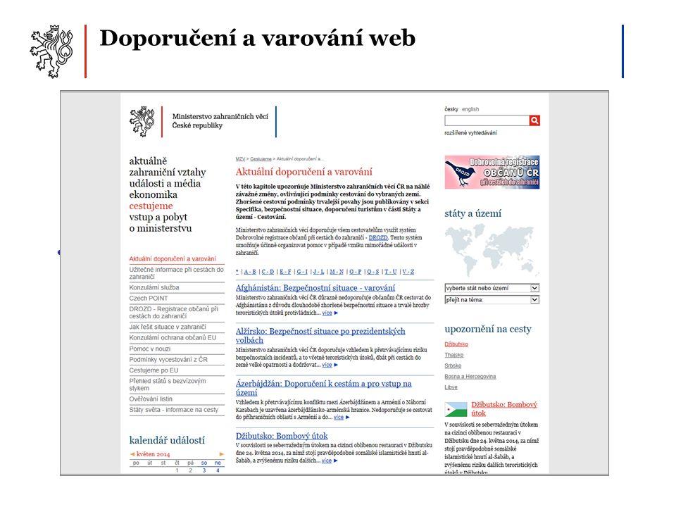 Doporučení a varování web