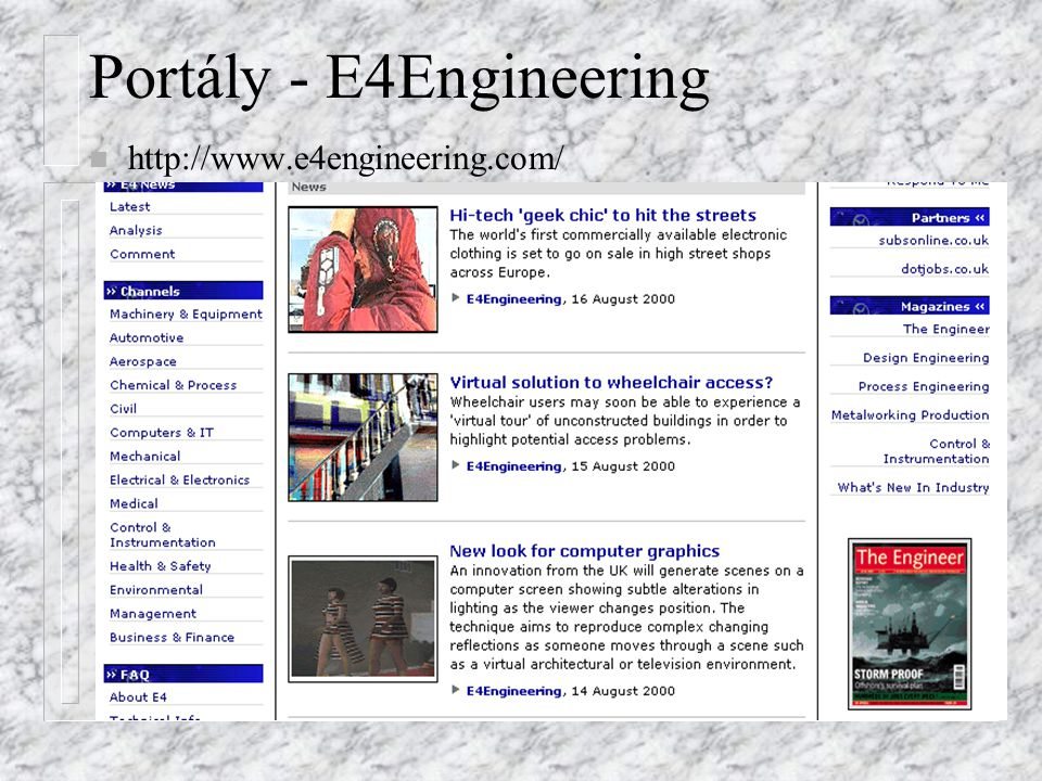 Portály - E4Engineering n http://www.e4engineering.com/